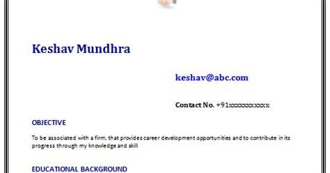 Fresher bpo resume format